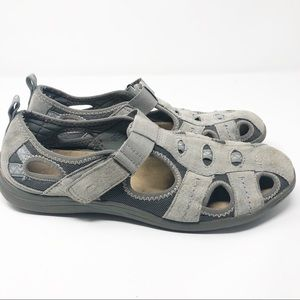 Earth Origins | Gray Leather Camby Comfort Sandal